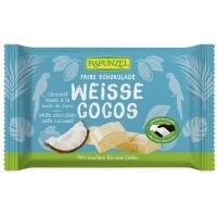 Ciocolată bio albă Cristallino cu bucăţele de cocos HIH