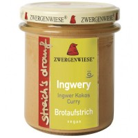 Crema tartinabila bio vegetala Ingwery cu ghimbir, cocos si curry