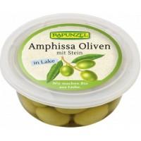 Masline Bio Amphissa verzi cu sâmburi în saramură