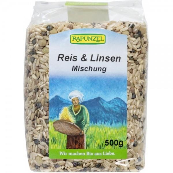 Amestec de orez si linte