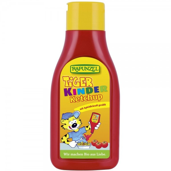Ketchup de tomate Tiger pentru Copii Indulcit cu nectar de mere