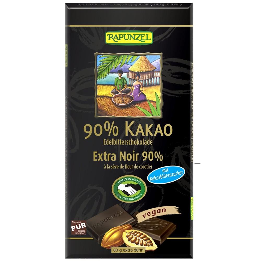 Ciocolata amaruie 90% cacao si zahar de cocos