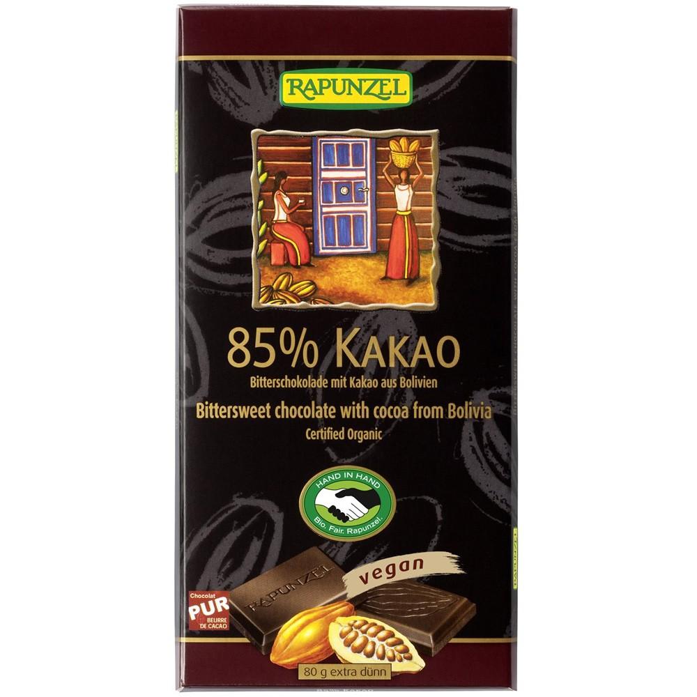 Ciocolata amaruie 85 % cacao VEGANA