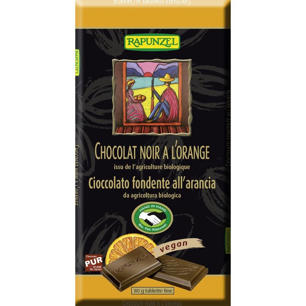 Ciocolata bio amăruie cu portocală si 55% cacao HIH