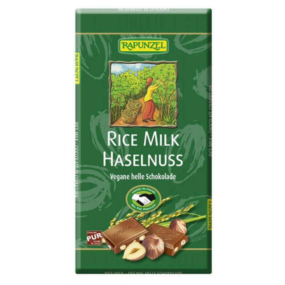 Ciocolata cu lapte de orez si bucati de alune