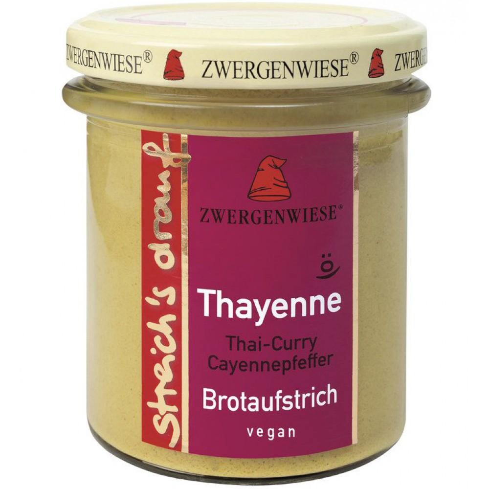 Crema tartinabila vegetala Thayenne cu Thai curry si piper de cayenne