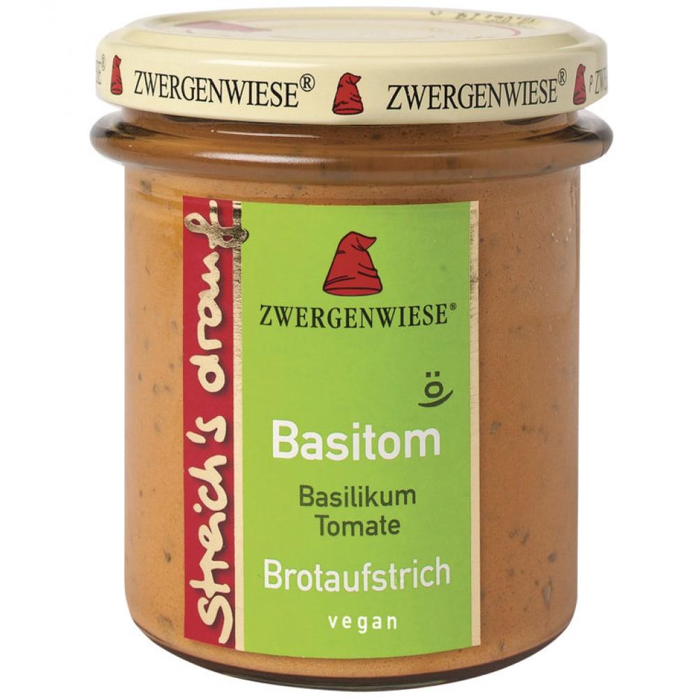 Crema tartinabila vegetala Basitom cu busuioc si tomate  FARA GLUTEN