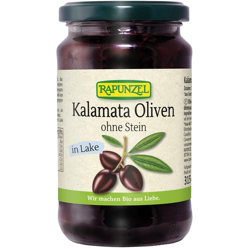 Masline bio Kalamata, violet, fără sâmburi, în saramură