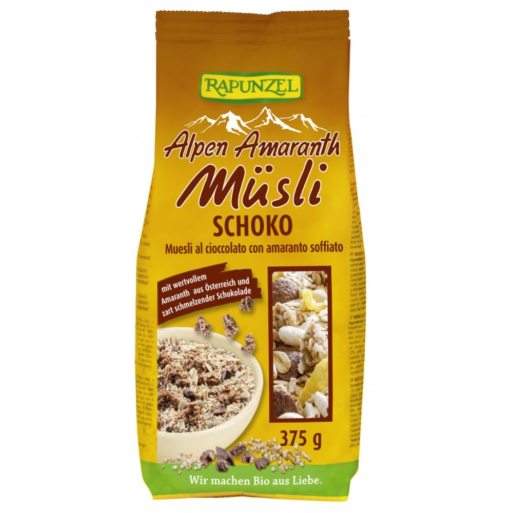 Musli ecologic cu amarant si ciocolata
