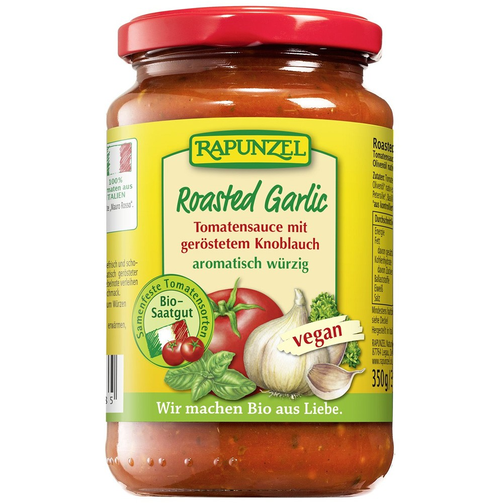 Sos de tomate cu usturoi prajit VEGAN